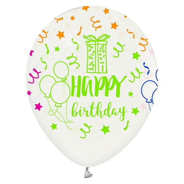 Lufi, Happy Birthday, 32cm, 5 db/cs