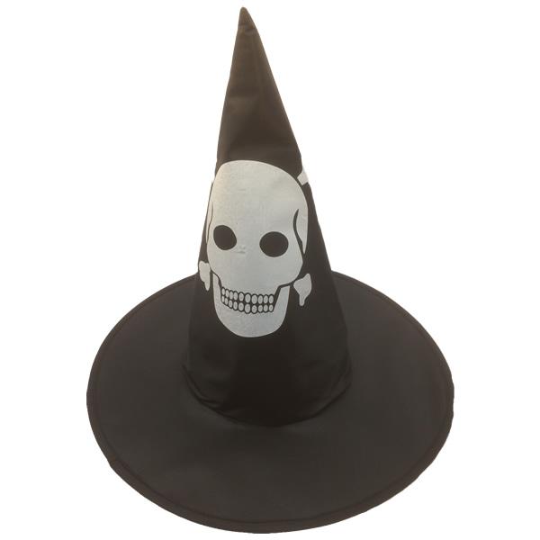 Varázsló kalap, koponya mintával